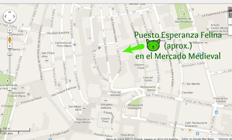 Esperanza Felina en el Mercado Medieval de Vitoria. 26, 27 y  28 de Sepetiembre 2014 Plano10