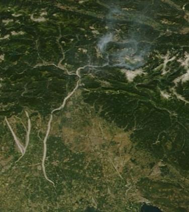 Brucia l'alto Friuli: incendi a Patocco e Pietratagliata Scherm10