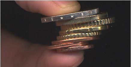 Les pièces et billets d'euros et les malvoyants Pieces11