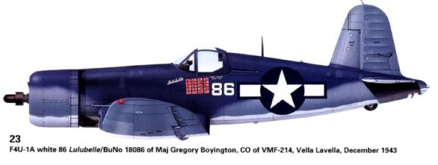 Le corsair F4U-A1 212