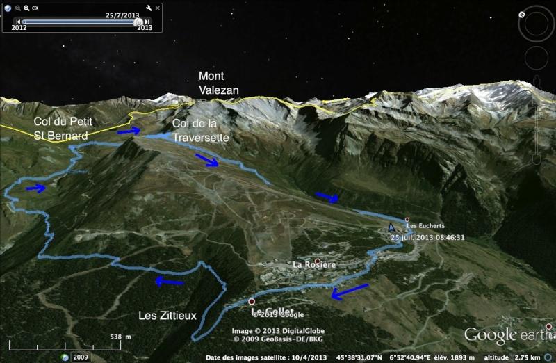 Col de la Traversette par vallons du Reclus et des Moulins Traver10