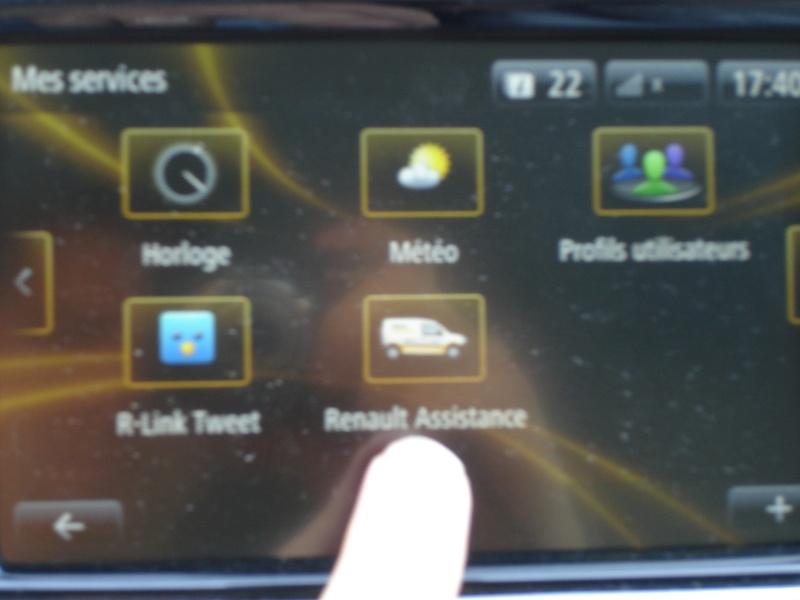 Ou trouver le N° de telephone de l'assistance Renault dans le RLINK ? Dsc07213