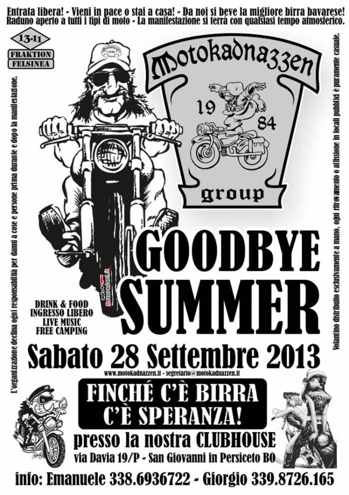Goodbay Summer 28 settembre .BO- Raduno10