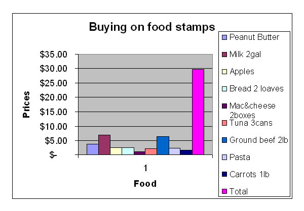 Assignment 11: Excel Part II (Food Stamp Challenge) due April 19 Charts11