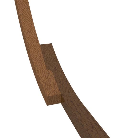 profondeur dans un ecart a croc reliant un madier et une allonge 1610