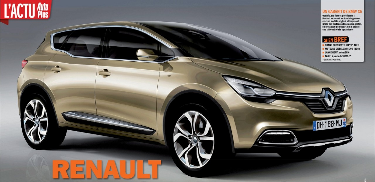 2016 renault grand crossover. Black Bedroom Furniture Sets. Home Design Ideas