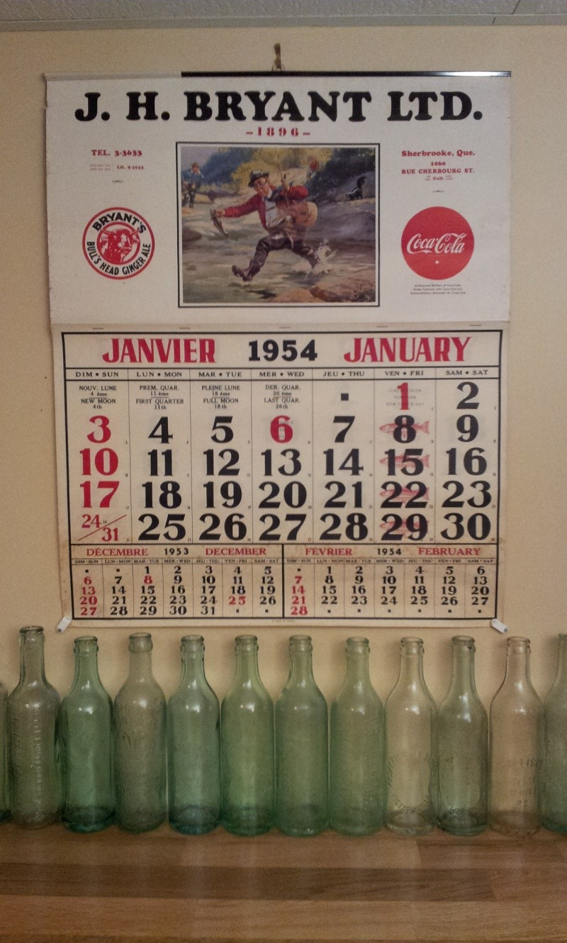 Calendrier Bryant 1954 03110