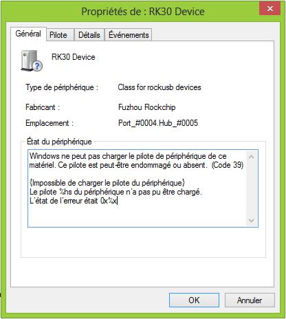Problème Root archos gamepad Rk30_d10