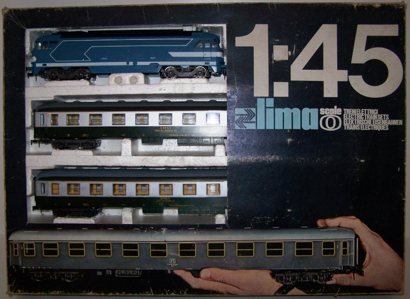 Le coffret BB67001 avec train de voyageurs référence 0120F de Lima au 1:45 Lima_c10