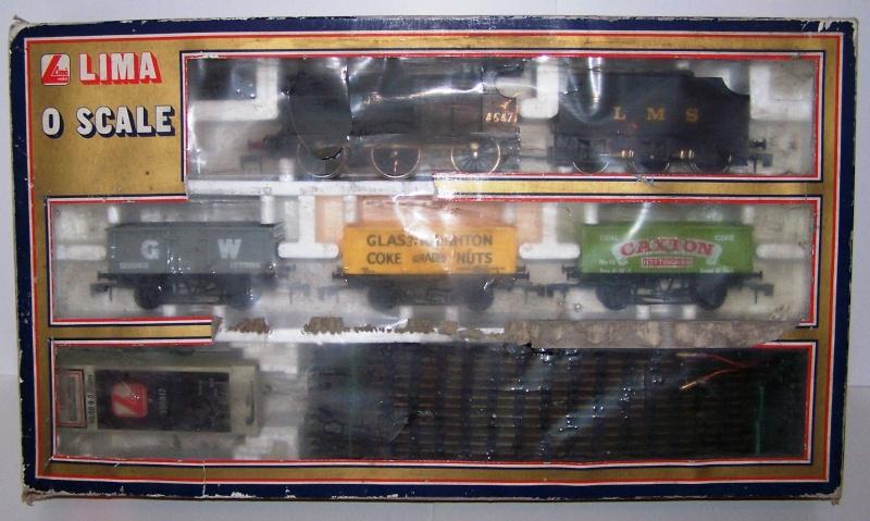 """Le coffret vapeur 4F avec train de """"mineral"""" référence 0116 de Lima O scale  Lima_c18"""