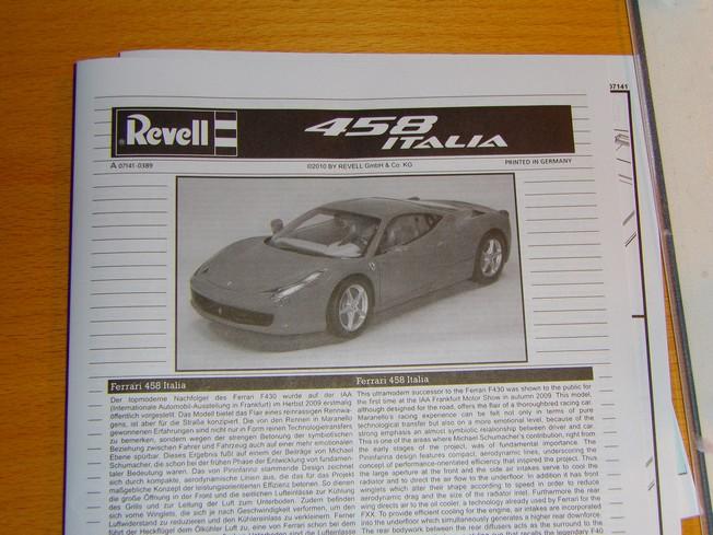 FERRARI 458 ITALIA de Revell 1/24 215