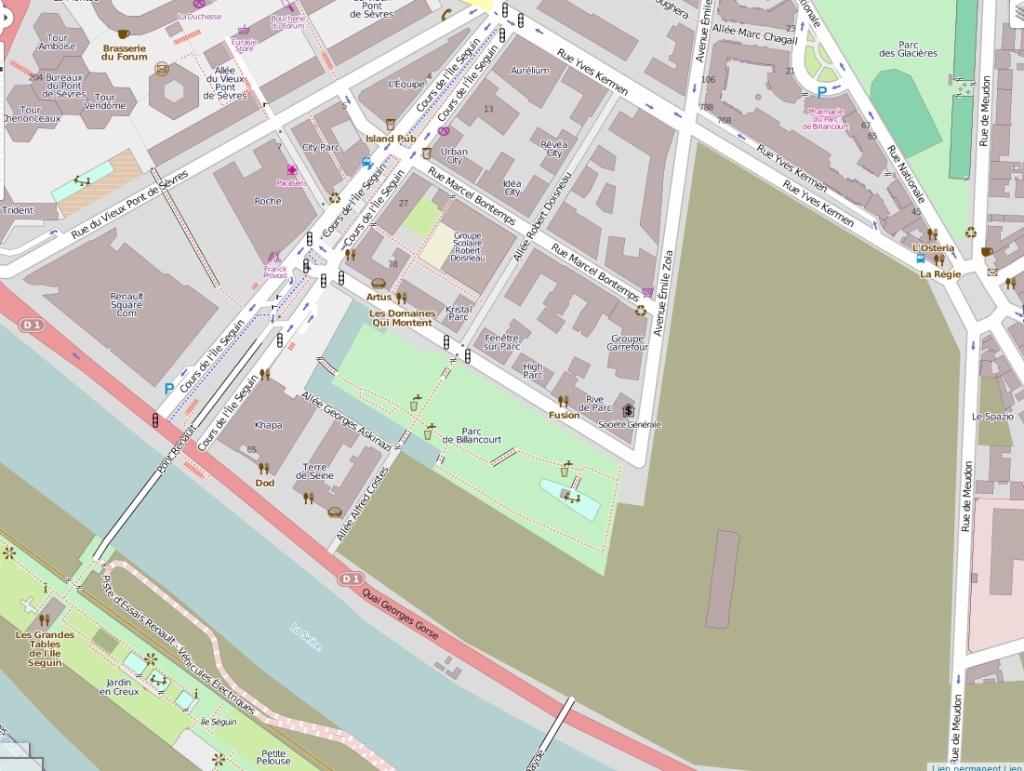 Plan du trapèze / nom des résidences et des rues Openst11