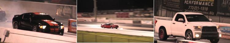 Highlights from the Track 12.2 Toyota Tundra, 9 sec 03 Cobra, 8 Sec 240 Fb10