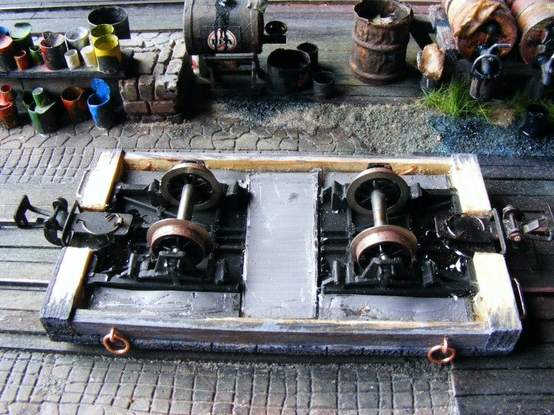 Wagen der 600mm-Feldbahn (Masstab 1:35) Flachw12