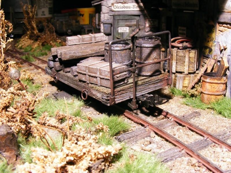 Wagen der 600mm-Feldbahn (Masstab 1:35) Flachw18