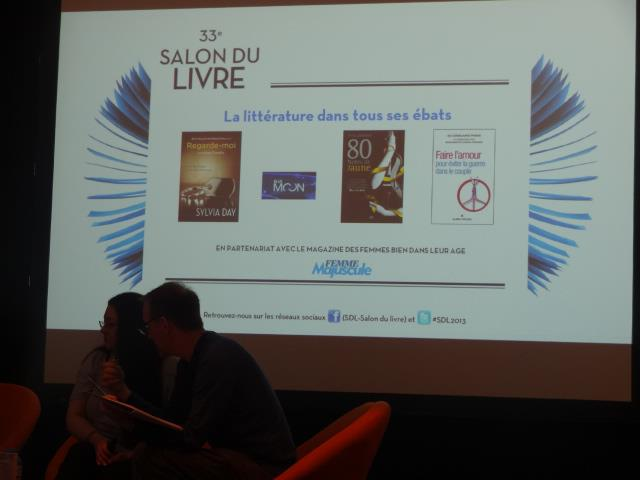 SALON DU LIVRE 2013 - Conférence : La littérature dans tous ses ébats Confa_10