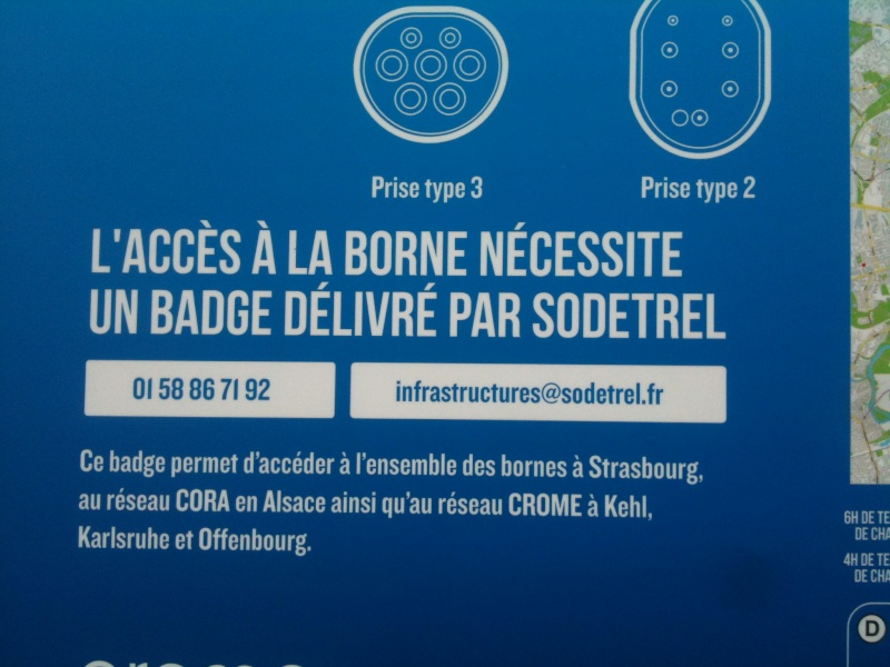 Borne de recharge géré par Sodetrel en Alsace Infoss10