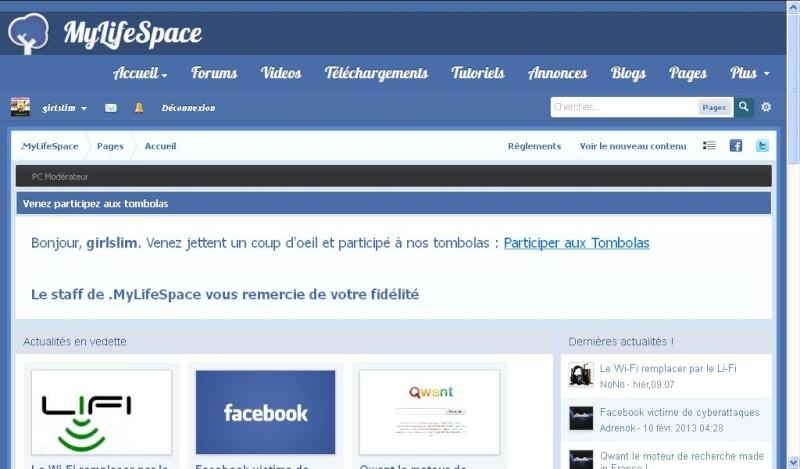 MyLifeSpace.fr :: Communauté social des passionnées Page_d11