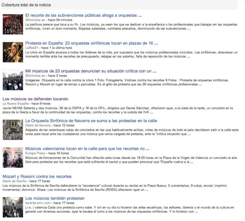 Recopilatorio de titulares del concierto simultáneo  Captur15