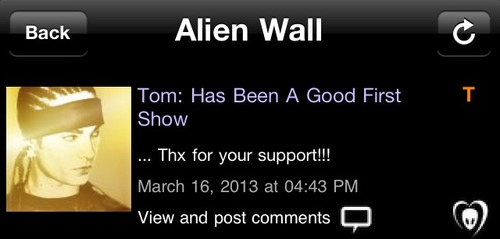 [16.03.2013] BTK TWINS @Tom: has been a good first show Tumblr27