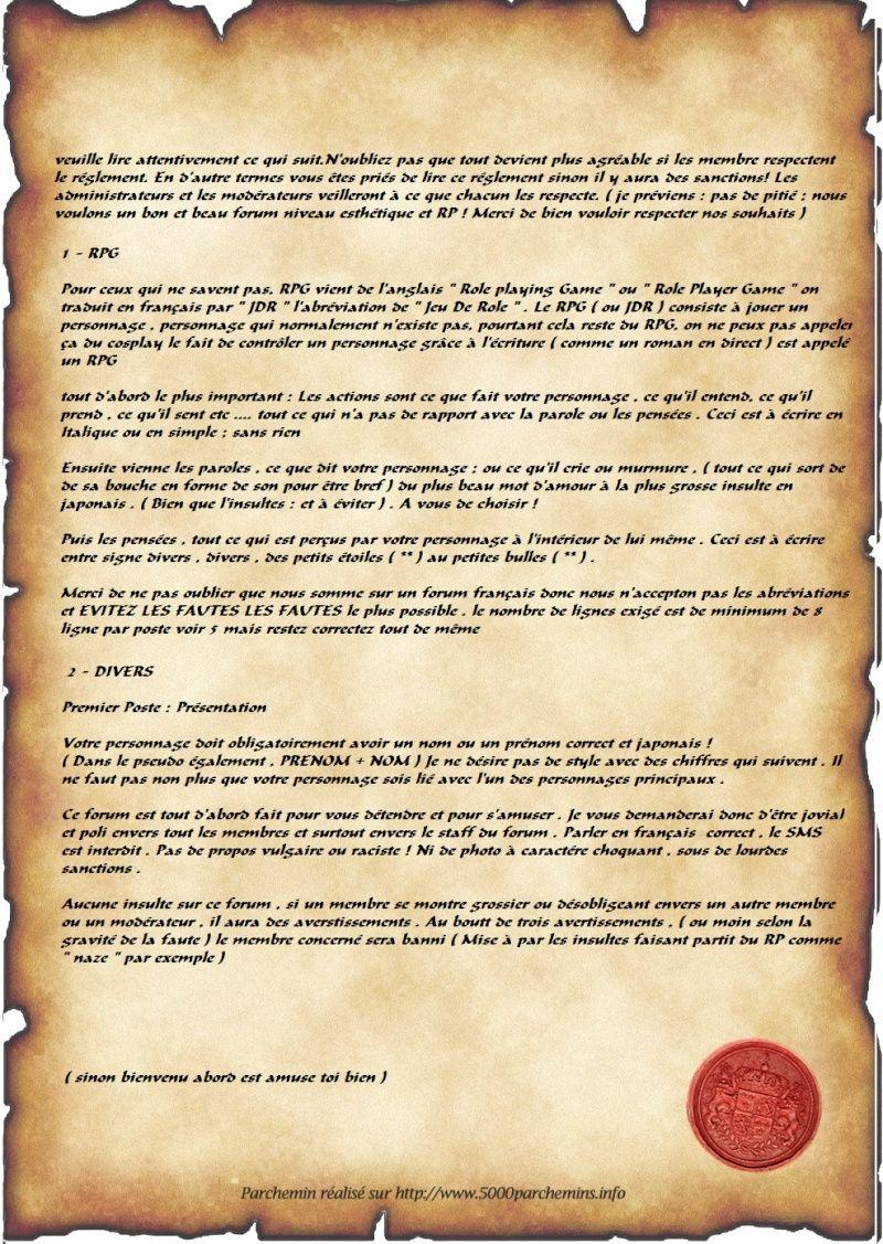 voici le règlement que vous devais lire   Parche10