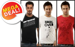 Tradus Mega Deal: TSX Pack of 3 Graphic T-Shirts @ Rs.399/- Supmjw10