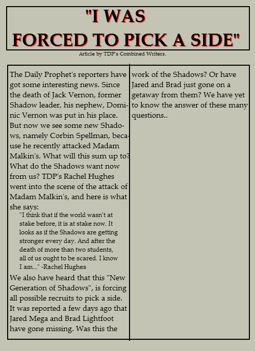 The Daily Prophet: Issue #1 Tdpiss11