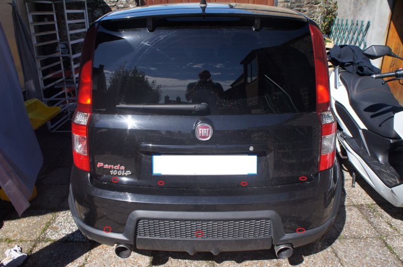 Installation radar de recul sur Fiat Panda  Dsc03110