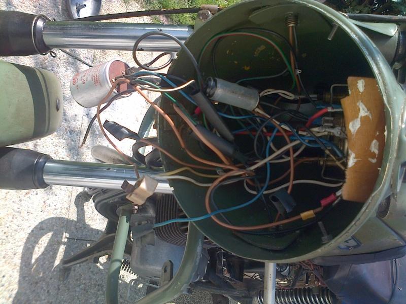 la petite verte en rénovation TS 125 1975  Moissy14