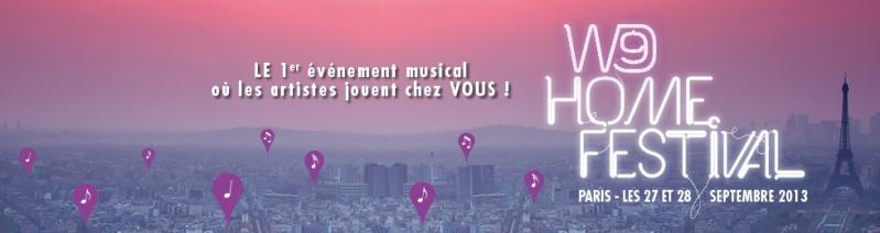 Gagnez vos pass privés pour le W9 Home Festival 2013! Home_d10