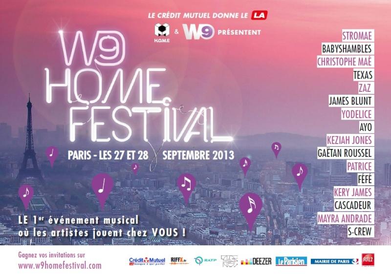 Gagnez vos pass privés pour le W9 Home Festival 2013! Sans_t13