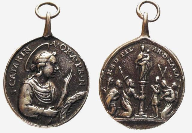 Medalla Santa Catalina de Alejandría / Virgen del Pilar (R.M. SXVIII-O200) (MAM) Catali10