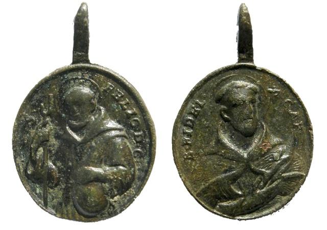 medalla de S. Félix de Cantalicio / S. Fidel de Sigmaringa - s. XVIII Felix_10
