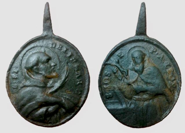 Medalla de S. Fidel de Sigmaringa / B. Jose de Leonisa - s. XVIII Fidel_10