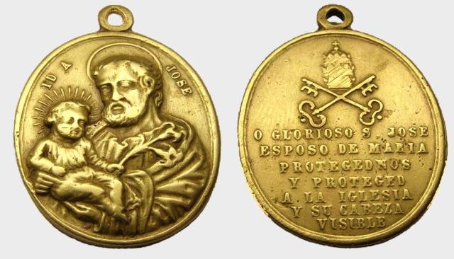 Medalla  San José de Nazareth / Inscripción  (R.M. SXIX-O46) Jose_d11