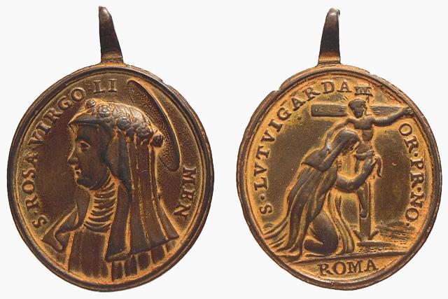 Medalla Santa Rosa de Lima / Santa Lutgarda (R.M. SXVIII-O199) Lutgar10