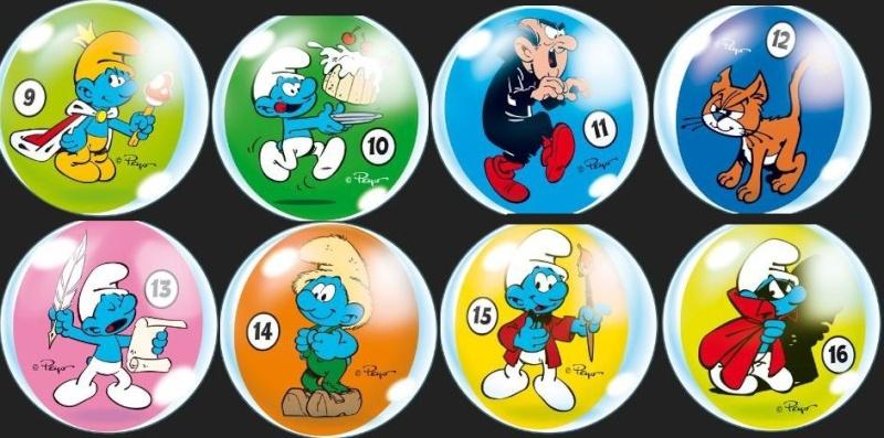Collectionnez les Balles et les Autocollants Schtroumpfs dans les Magasins CORA et MATCH Lot21010