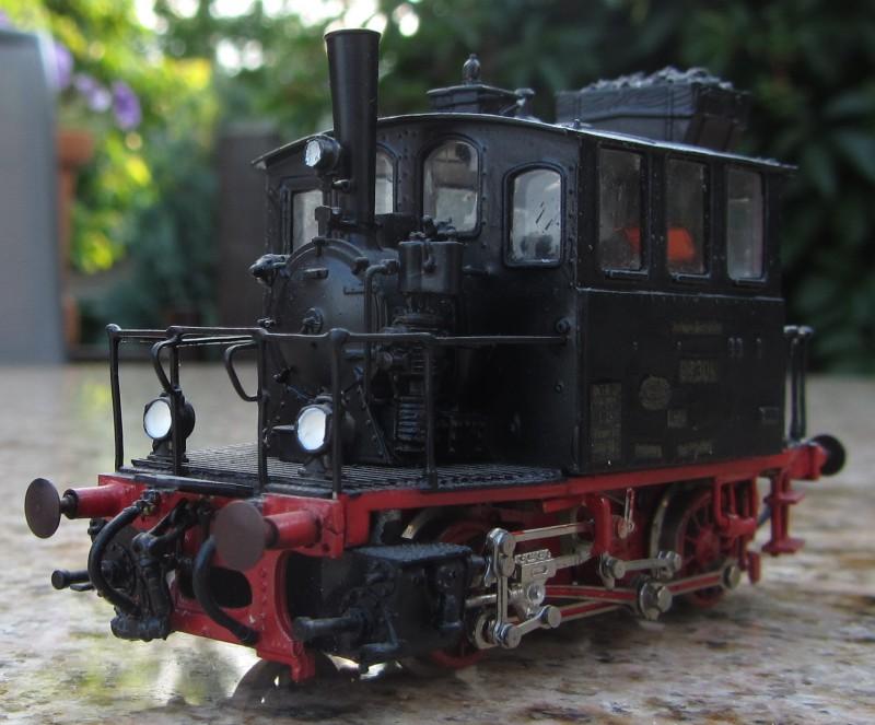 Meine letzte H0-Lok, die VII T und noch zwei Kleine als Zugabe Glas0110