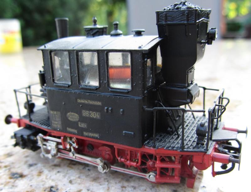 Meine letzte H0-Lok, die VII T und noch zwei Kleine als Zugabe Glas0210