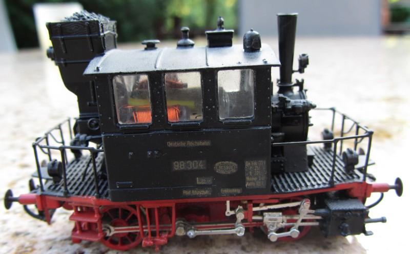 Meine letzte H0-Lok, die VII T und noch zwei Kleine als Zugabe Glas0310