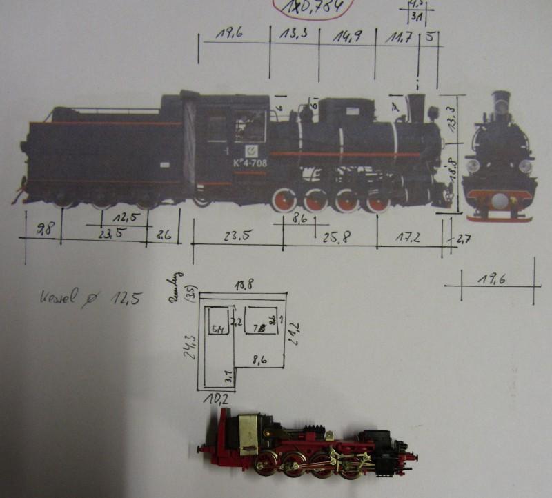 Kp4 der LG in H0e (Littauische Staatsbahn) Kp4-0210