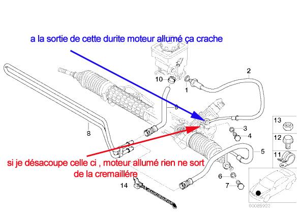 [ BMW e46 330d 204cv an 2003 ] fuite pompe de servo-direction 123_co11