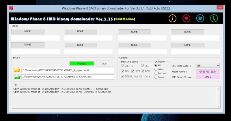 [TUTO] : Installer la GDR2 via flash sur Ativ S Wp_smd11