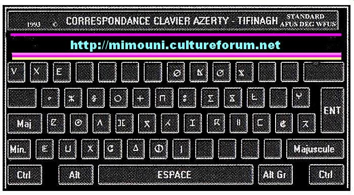 clavier tifinagh pc