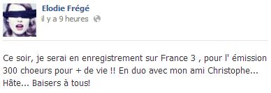 Messages d'Elodie Frégé sur Facebook (de Août 2013 à Avril 2014) Captur41