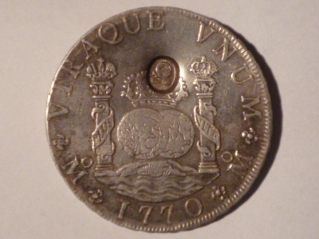 Mexico 1770-MoMF 8 Reales with counterstamp real? Mince_12