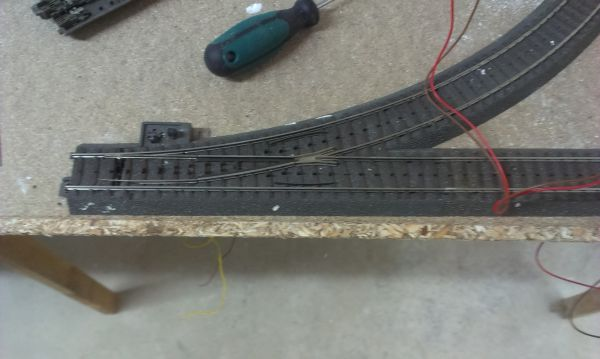 erste Anfänge meiner Bahnanlage in H0 Imag0313
