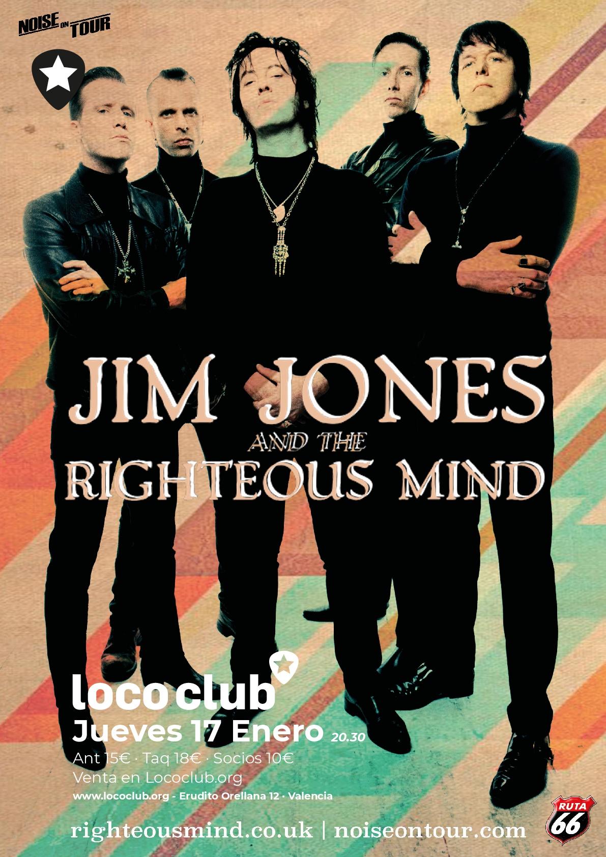 JIM JONES AND THE RIGHTEOUS MIND LOCO CLUB 17 ENERO 2019 Cartel26