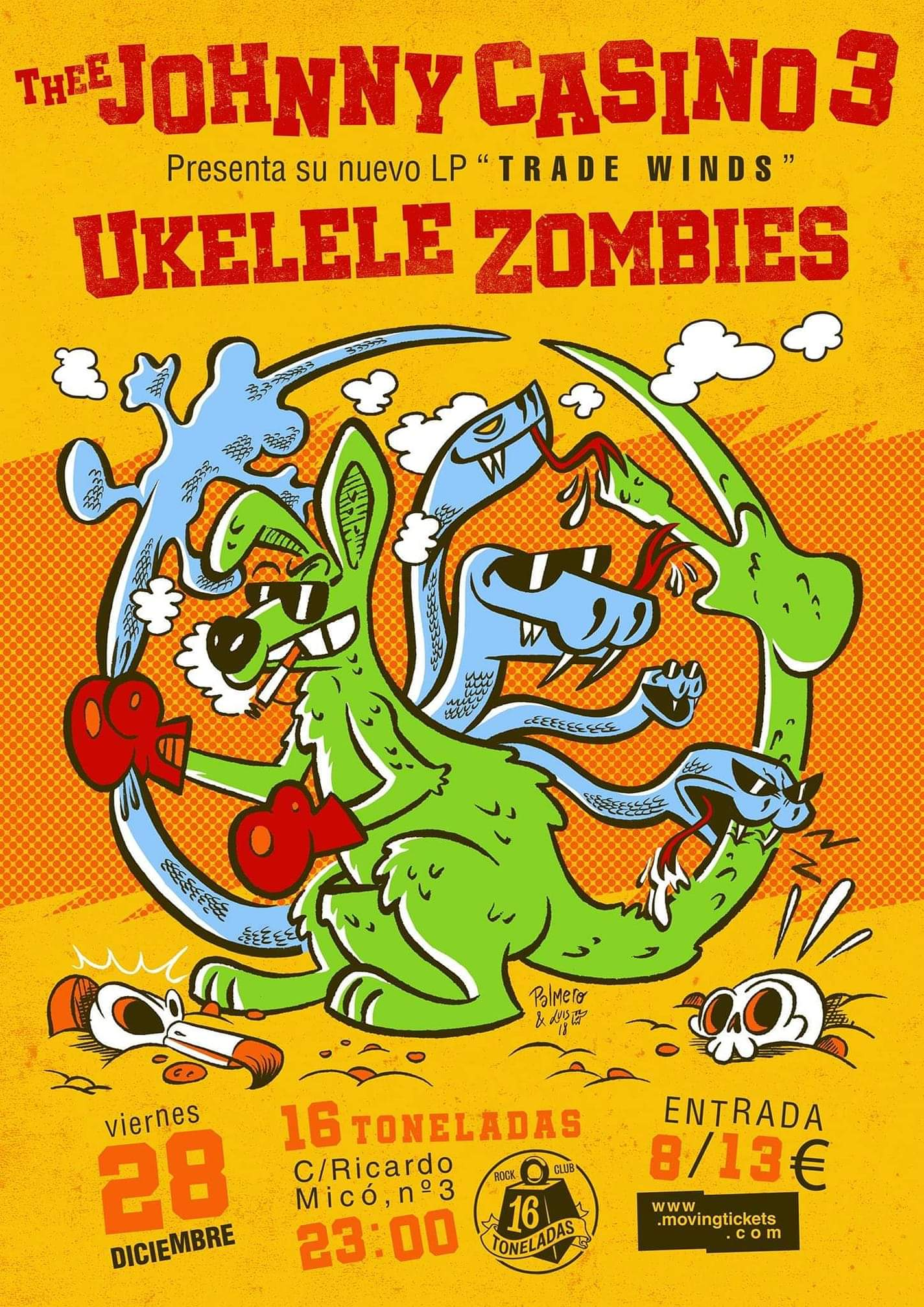 UKELELE ZOMBIES- JOHNNY CASINO 28 DICIEMBRE 16 TONELADAS  Fb_im162