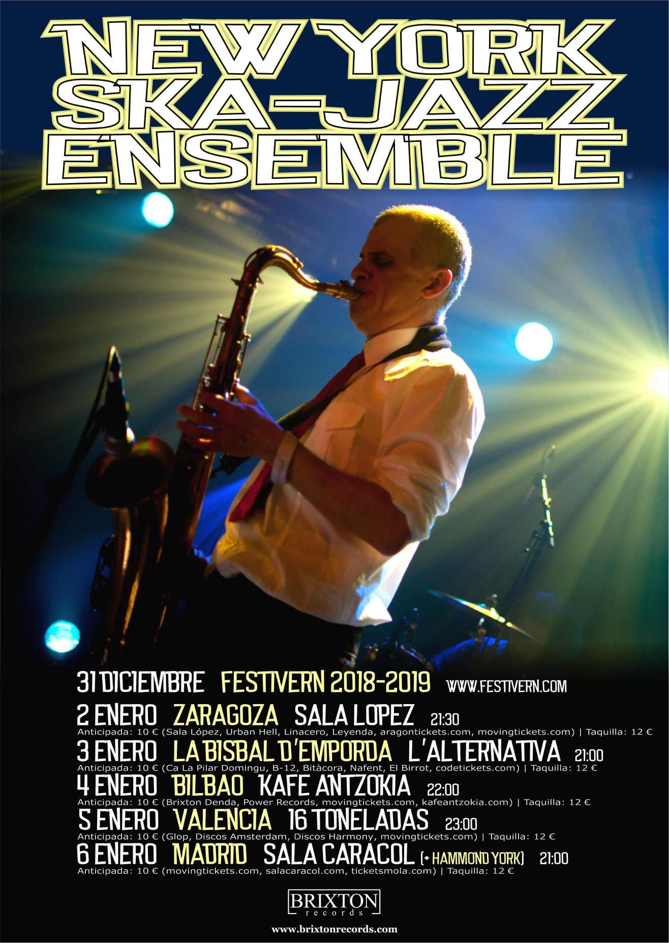 NEW YORK SKA- JAZZ ENSEMBLE 5 DE ENERO 2019 16 TONELADAS  Fb_im182